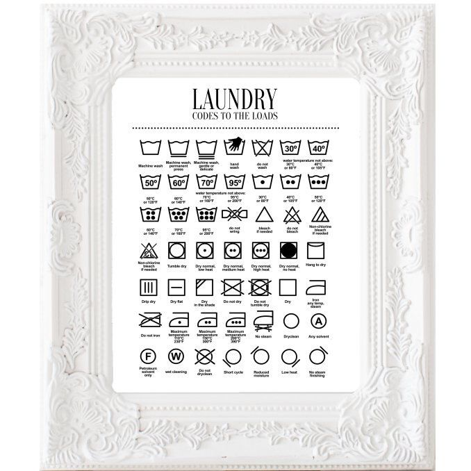 Clothes Wash Signs: 17 Best Ideas About Laundry Care Symbols On Pinterest