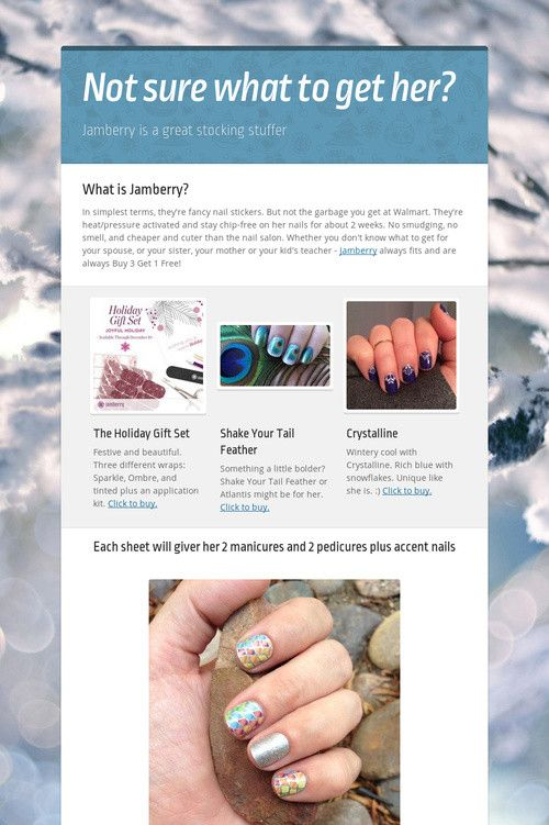 What is Jamberry? In simplest terms, they're fancy nail stickers.