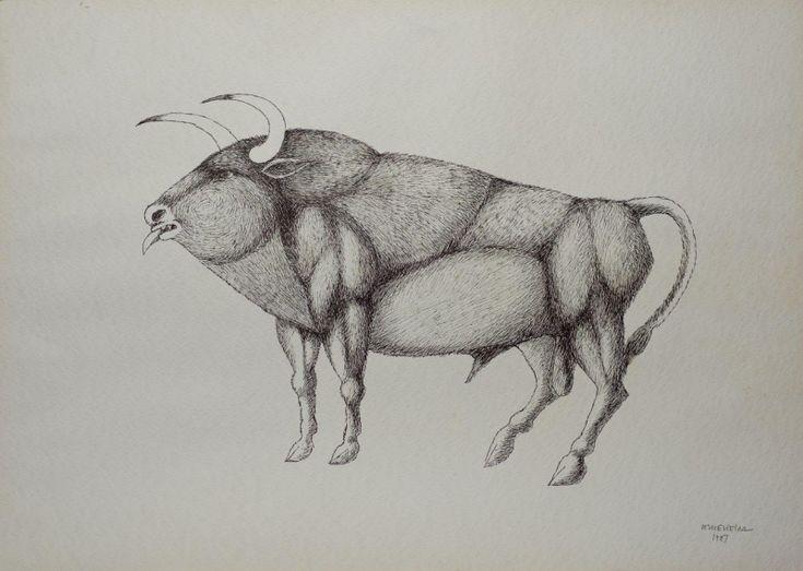 Sem Titulo 169)03 1987 Chinese Ink x Paper 57cm x77cm #JorgeVieira #sculpture #SaoMamede #art #drawings #visit #lisbon #gallery