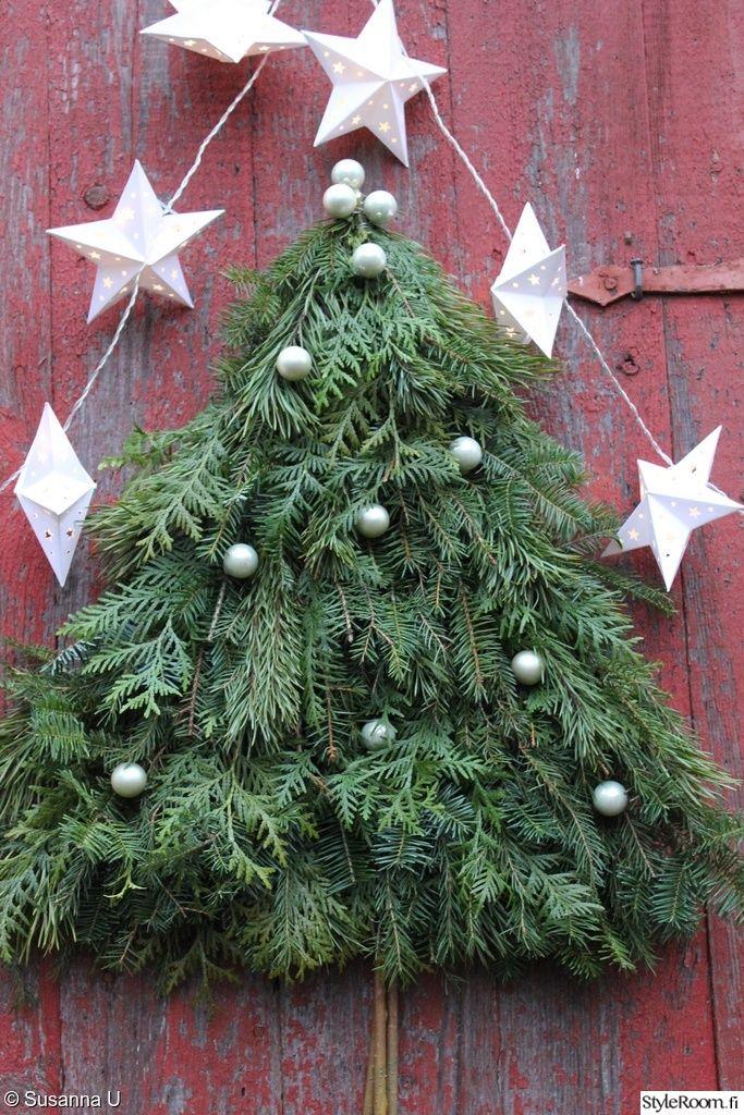 kranssi,havut,joulu,ikivihreät oksat,diy