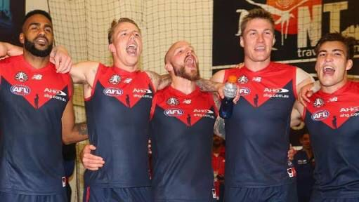Singing the deez song with pride as the deez win against Richmond on the ANZAC day eve clash ❤️❤️