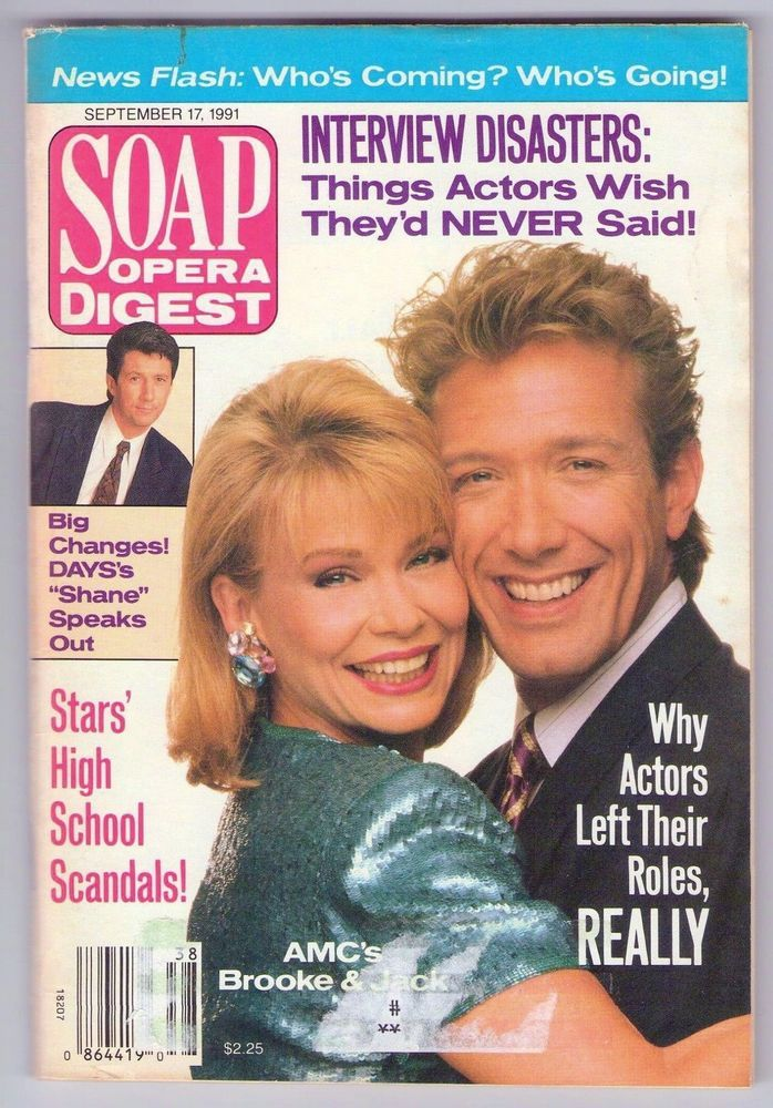 Soap Opera Digest magazine back issue for September 17 1991 freaturing Julia Barr, Walt Willey and Shari Headley on #eBay www.grammysbargains.com Lots more great issues available. Click for details.