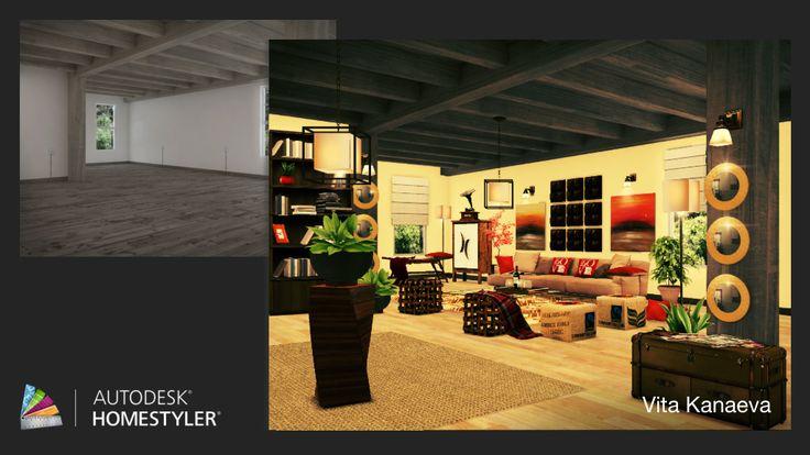 """Guarda il mio #design degli interni  """"Soggiorno 1 """" su #Homestyler http://autode.sk/1n2sTcg"""