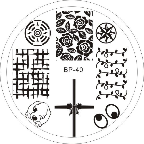 $2.99 Cute Dog Flower Theme Nail Art Stamping Template Image Plate BORN PRETTY BP40 - BornPrettyStore.com