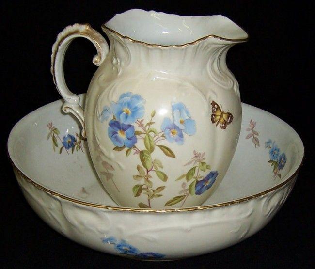 110 best pitcher bowl sets and pitchers images on pinterest porcelain bowl set and powder room. Black Bedroom Furniture Sets. Home Design Ideas