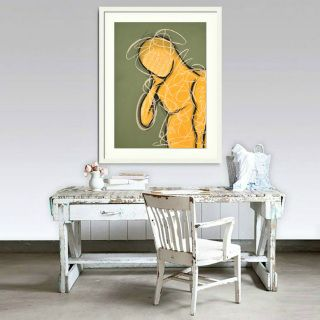 """Working Man"" - original figurative pastel drawing by Sabina D'Antonio"