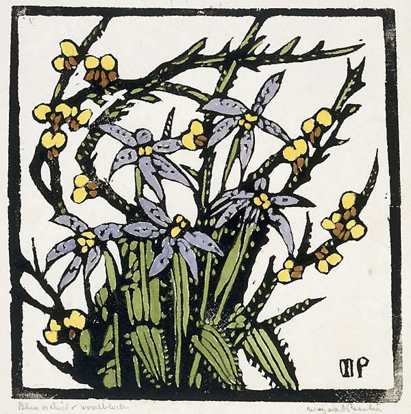 Blue orchid,  by Margaret Preston (circa 1935)