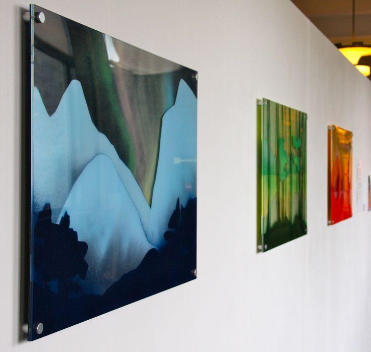 "#elementedenartsearch  ""Nordlys"" - Kaja Weum, three layers of plexiglas and spraypaint. www.kajaweum.com"