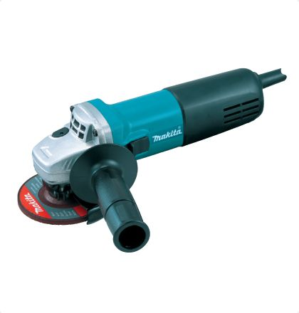 Makita 9553NB Angle Grinder     Compact yet Powerful one-hand Grinder.     Small circumference barrel grip for easy handling.     Labyrinth construction protects all ball bearings from dust and debris.     Armature coated with protective zigzag varnish and Field coated with powder varnish protect motor from dust and wire breakage, ensuring durability enough for masonry cutting. For More Details: http://www.mrthomas.in/makita-9553nb-angle-grinder_50