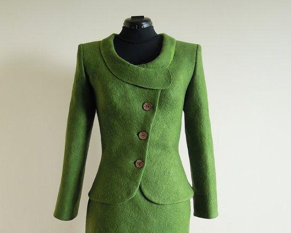Farb-und Stilberatung mit www.farben-reich.com Green Felted Jacket by LittleEwesFriend