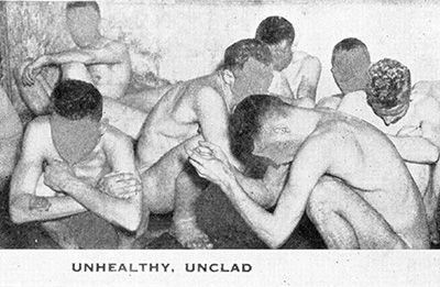 Unhealthy, unclad. From: A Pictorial Report  on Mental Institutions in Pennsylvania, 1946