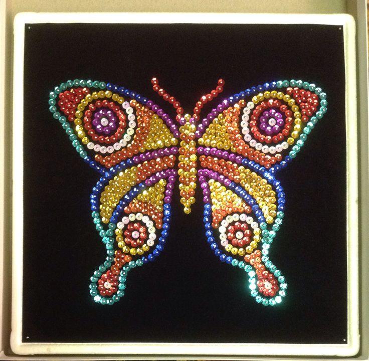 Sequin Art butterfly