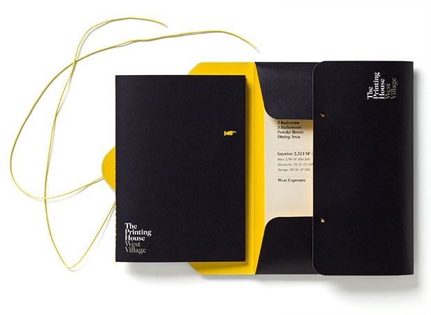 The Printing House stationery designed by Pentagram.