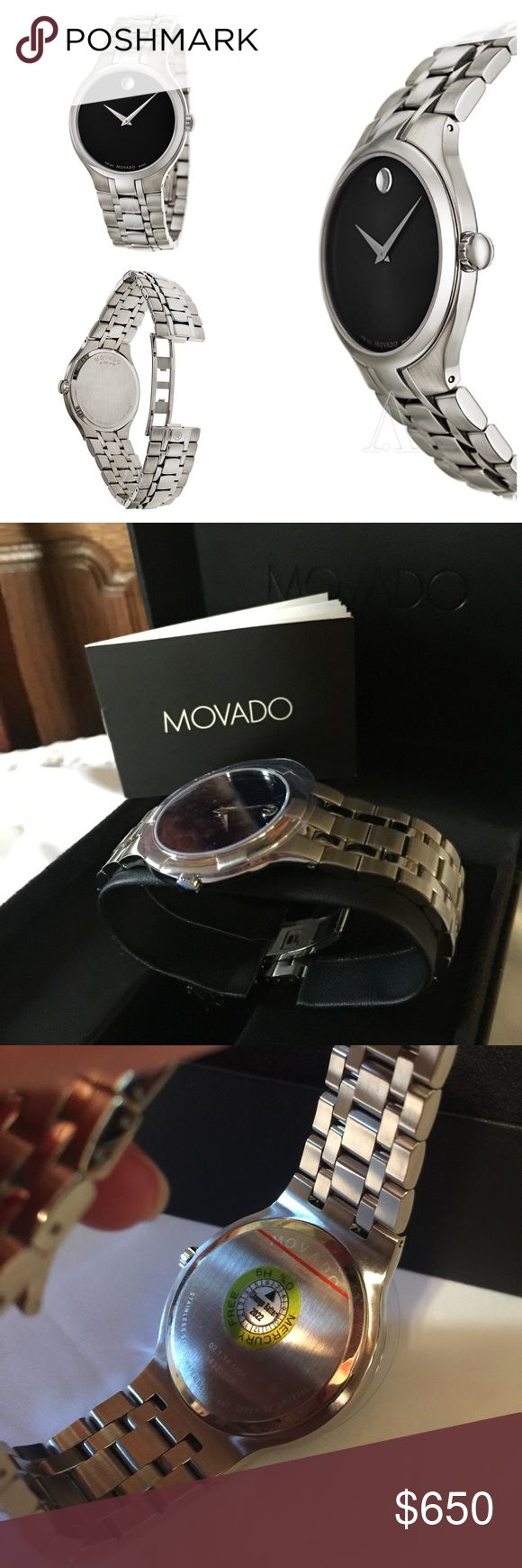 Movado Men's Collection Watch Brand new authentic movado men's watch. Round shape stainless steel. Sapphire crystal scratch resistant and 100 m water resist. Silver tone movado swiss watch. This is a beautiful men's watch. Perfect gift for any occasion. Box n booklet provided. Thank you. Let me know if you're interested. SELLING ONLY🌹 Accessories Watches