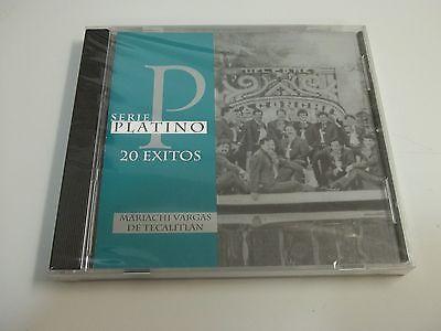 BRAND NEW Mariachi Vargas De Tecalitlan Serie Platino 20 Exitos MEXICO MUSIC CD
