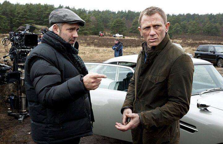 """Сэм Мендес и Дэниел Крэйг на съёмках """"007: Координаты """"Скайфолл"""""""""""