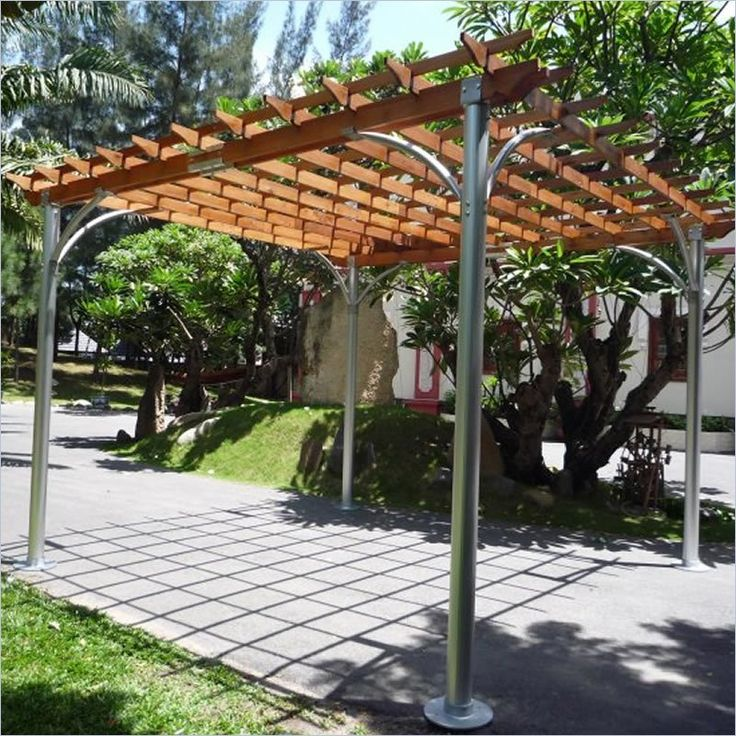 Shop 12 FT x 12 FT Aluminum Pergola by Vifah  at Furniture Sale Prices from our Gazebos & Canopies Department or compare by SKU V367 online at OneWay Furniture.