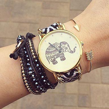 L'amitié montre d'éléphant, montre d'éléphant, montres femmes, montre cuir, montre à la main, montre vintage de 2016 à €6.61