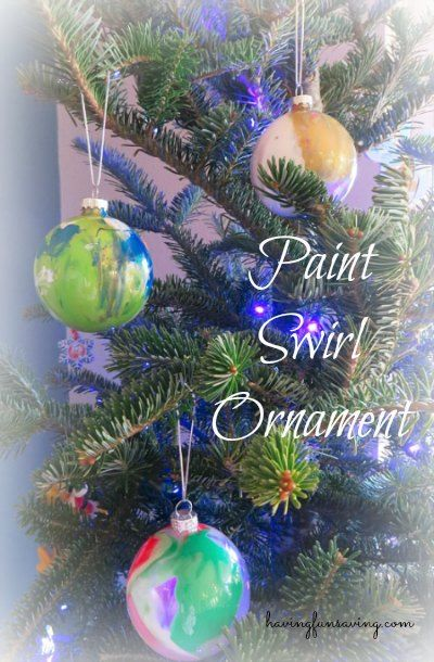 Paint Swirl Ornaments - Easy Kids Craft Ornament, Craft and