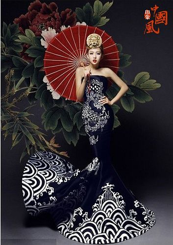 Chinese wind wedding dress (2) Chinese ancient to modern fashion and costumes