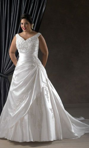 34 best xl wedding dress styles images on pinterest wedding Wedding Gown Xxl plus size wedding dress wedding gown lace