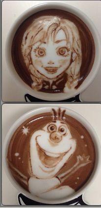Disney Latte Art