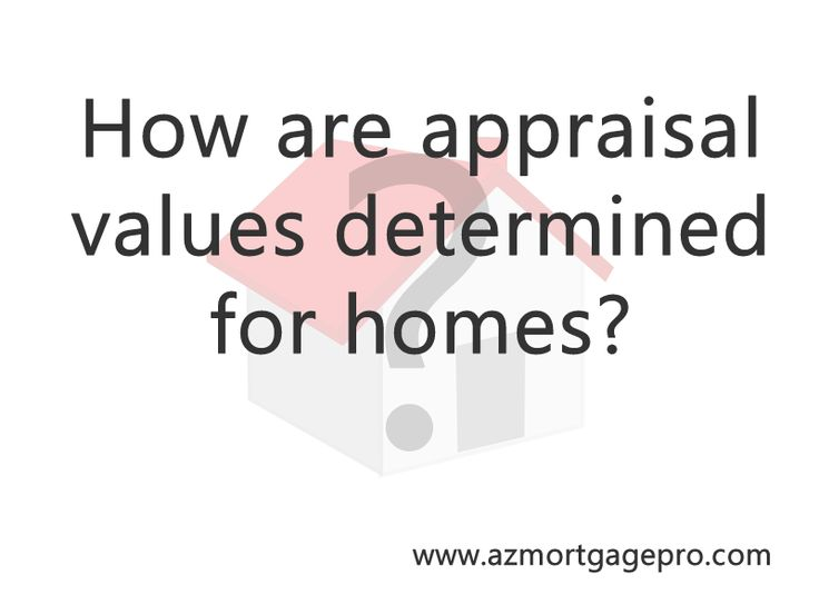 How home values for mortgages  are determined using appraisals.