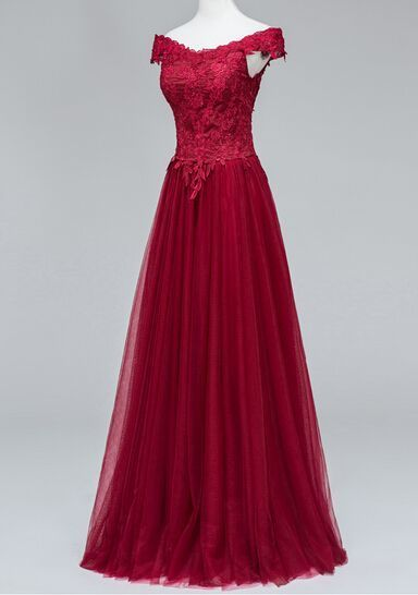 Charming Prom Dress,Tulle Prom Dress,Appliques Prom Dress,Off the Shoulder Prom Dress P708                                                                                                                                                                                 More