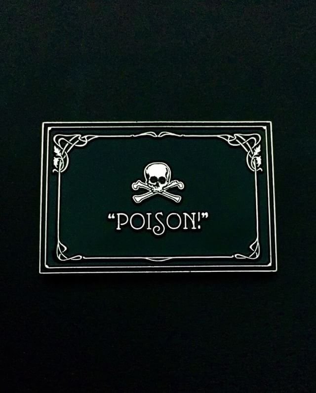 """Silent Film """"POISON!"""" pin from @creatorcollab ☠️ Watch out!  Available through their link in bio!"""