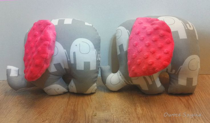 #owoceszycia Sweet & girly elephants. Sewed, handmade.