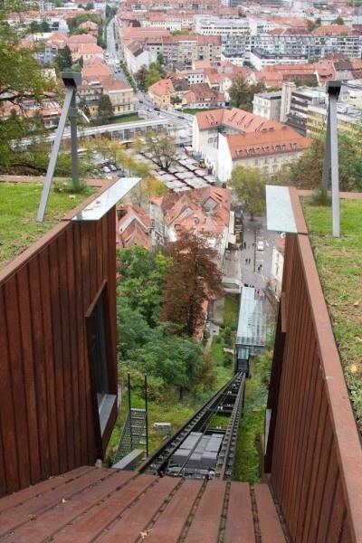 Ljubljana, Slovenia funicular