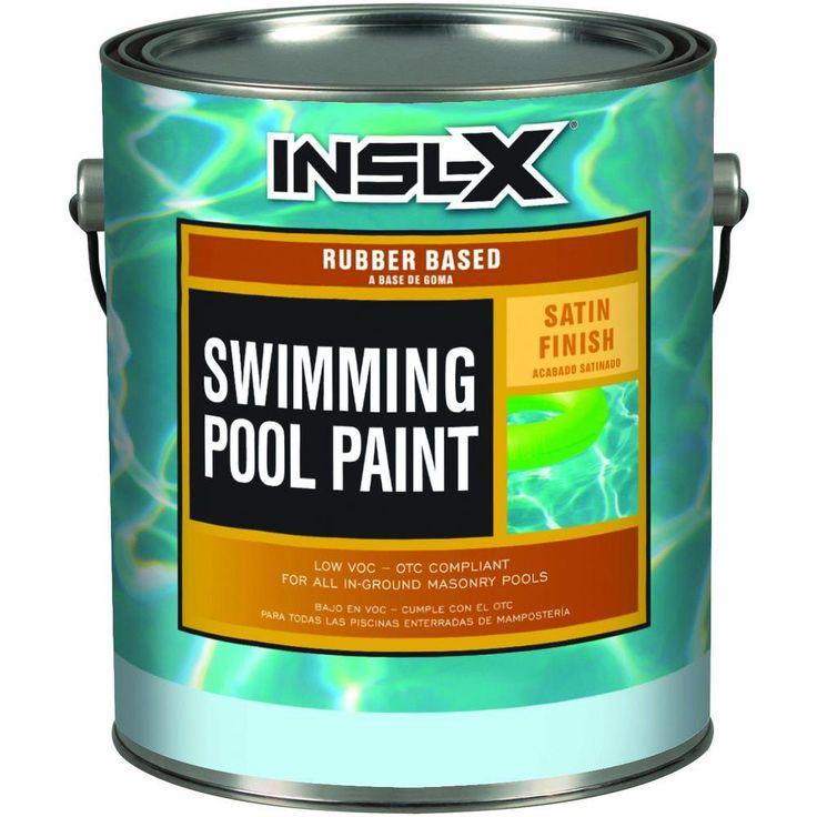 Insl X 1 Gal Satin Rubber Based Aquamarine Swimming Pool Paint Pool Paint Swimming Pools Pool Landscaping