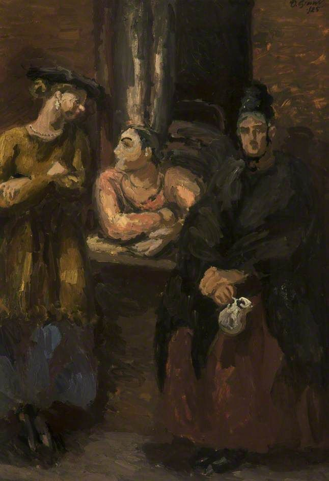 Interior with Figures, Duncan Grant (1885–1978), Bolton Museum and Art Gallery