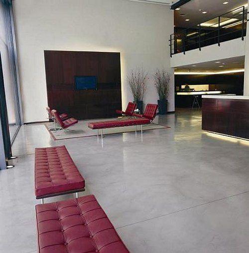 cemento pulido un pavimento y para interiores actuales