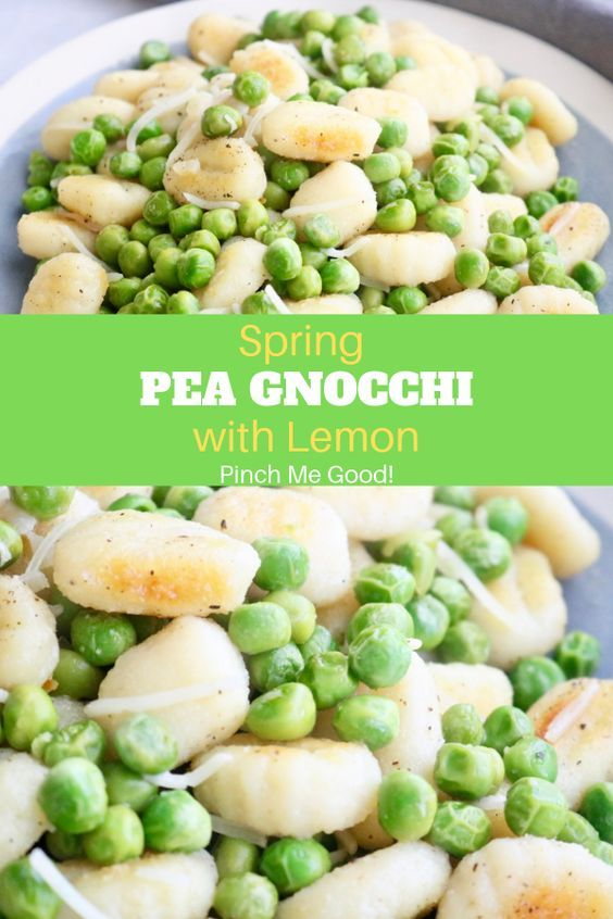 Spring #Pea #Gnocchi #with #Lemon