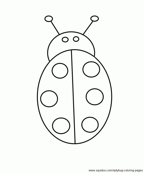 Simple Ladybug Coloring Page For
