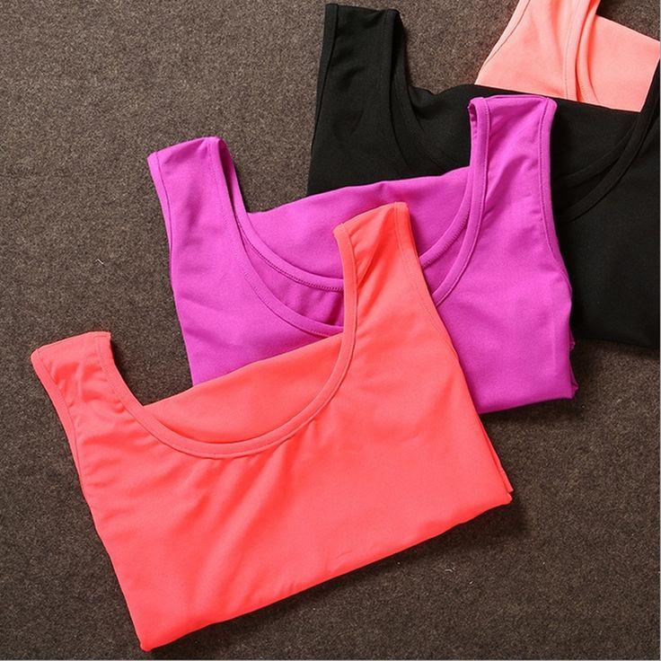 Новый 2016 Летом женские Yoga Рубашки Тренажерный Зал Фитнес Конфеты Цвет Рукавов Майка Быстрое Высыхание Дышащий Запуск Спорт Vest женский