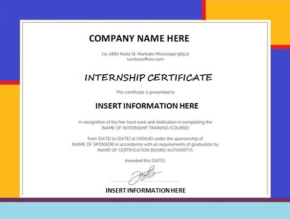 9+ Internship Certificate Formats Free Printable Word  PDF