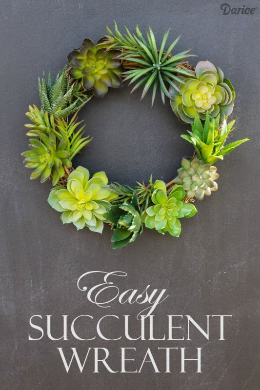 No green thumb? Make this super easy DIY Succulent Wreath. Perfect for anyone who wants the gorgeous look of natural succulents but without the stress!