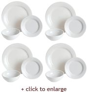 Lead Free Dinnerware American White 12 Piece Dinnerware Set  sc 1 st  Pinterest & 17 best Lead Free images on Pinterest | Lead free Dinnerware and ...