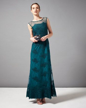 Catalonia Embroidered Full Length Dress