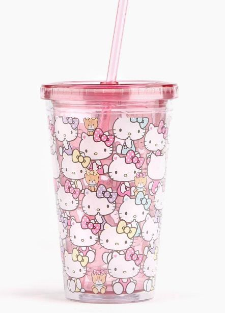 Cute #HelloKitty tumbler for cooling iced tea this Summer