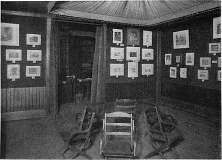 Exhibition room of the Boston Camera Club, 50 Bromfield St., circa 1893.