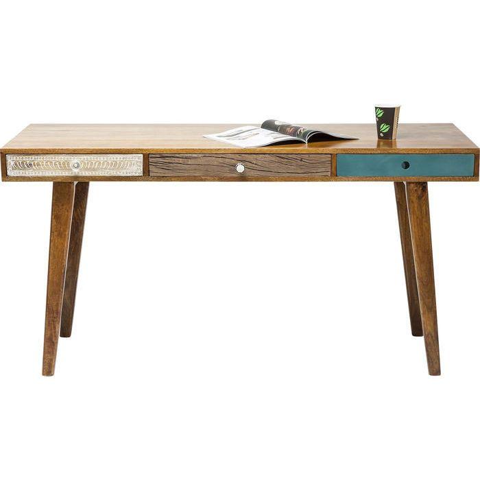 Γραφεία :: Γραφείο Babalou 150x70  Ένα ιδιαίτερο γραφείο, σε λιτές γραμμές από ξύλο mango, με μοντέρνα στοιχεία απο χρωματιστά κομμάτια λακαριστού MDF.