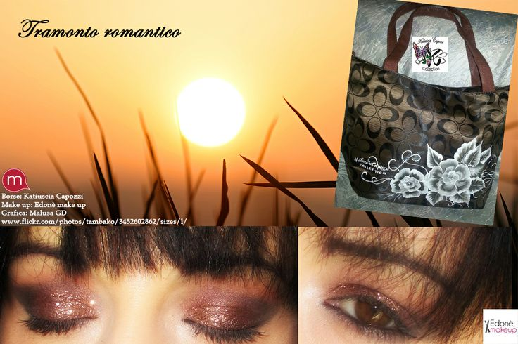 "Tramonto romantico Outfit realizzato con Edonè make up http://edonemakeup.com/ e Katiuscia Capozzi (http://katiusciacapozzicollection.com/):  Borsa della collezionehttp://katiusciacapozzicollection.com/  Make up ""Intense brown"" realizzato da Edonè Make up (https://www.facebook.com/EdoneMakeup) Link tutorial trucco http://edonemakeup.com/intense-brown-quando-larte-si-unisce-il-make-up/  Grafica Malusa Gd (https://www.facebook.com/MalusaGraphicDesign)"