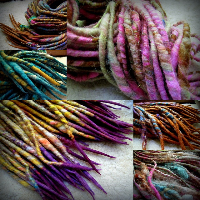 wool roving dreads