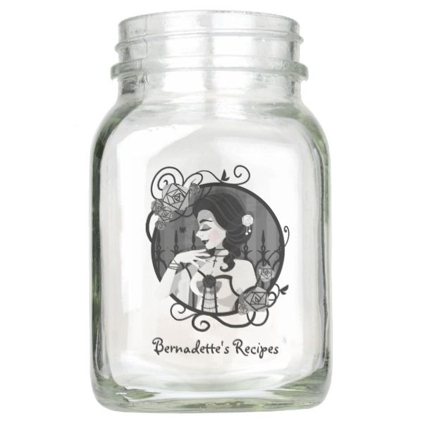 Gothic Victorian Vampire Portrait Mason Jar #halloween #holiday #drinkware #party #cups