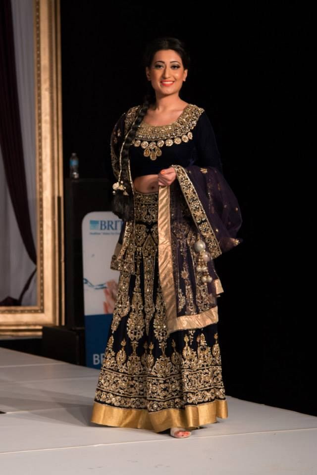 Chandan Fashion design walks the ramp from the 2014 Suhaag Wedding Show