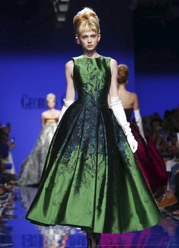 Вечернее зеленое платье миди