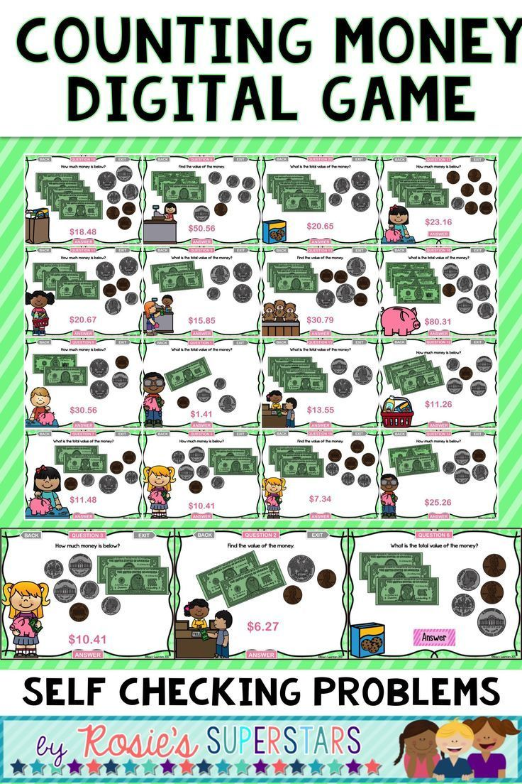 Counting Money Digital Game ~ PowerPoint and Version for Google Slides™    Counting money [ 1104 x 736 Pixel ]